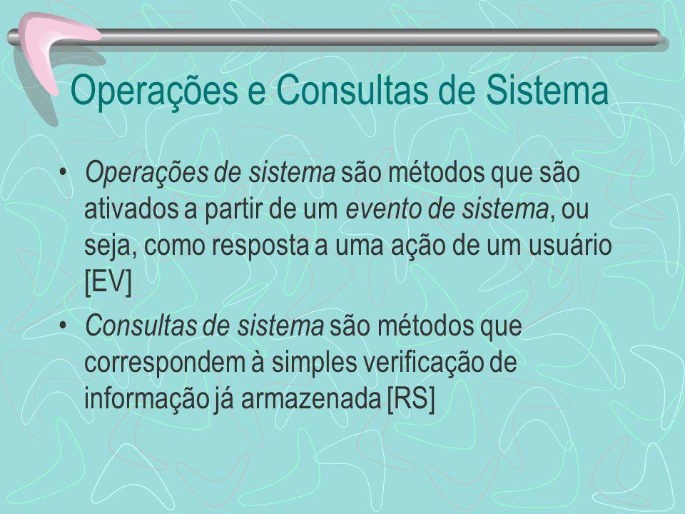 Operações e Consultas de Sistema