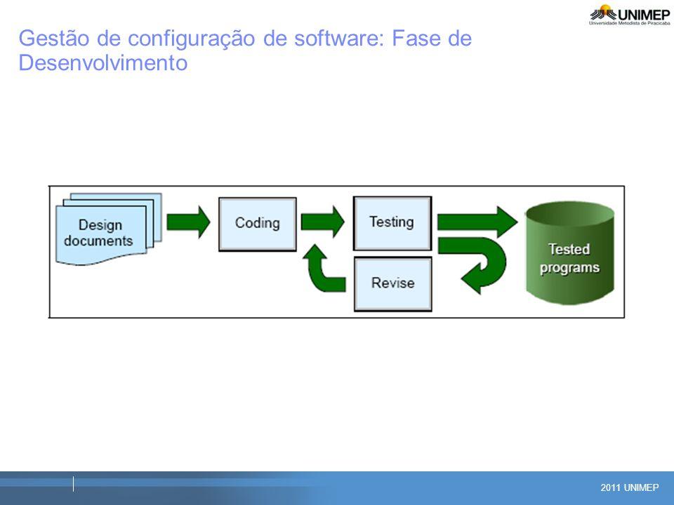 Gestão de configuração de software: Fase de Desenvolvimento