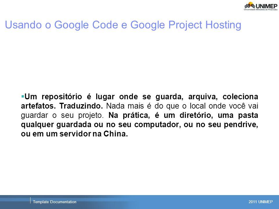 Usando o Google Code e Google Project Hosting
