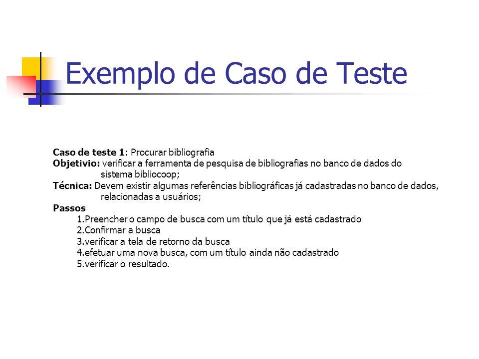 Exemplo de Caso de Teste