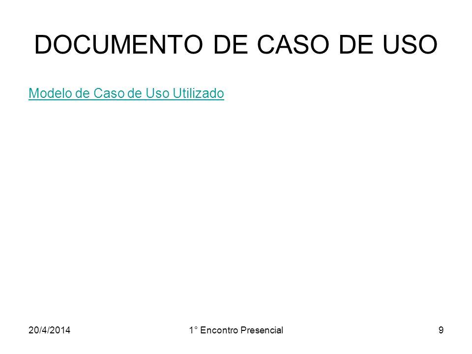 DOCUMENTO DE CASO DE USO