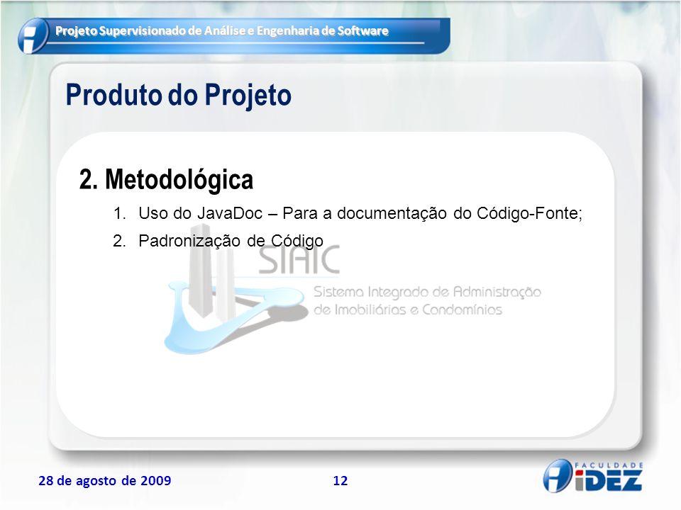 Produto do Projeto 2. Metodológica