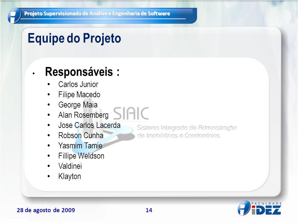 Equipe do Projeto Carlos Junior Filipe Macedo George Maia