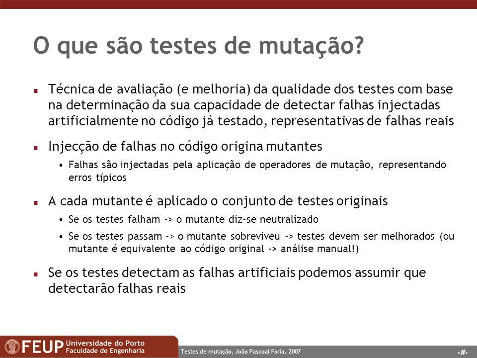 O que são testes de mutação