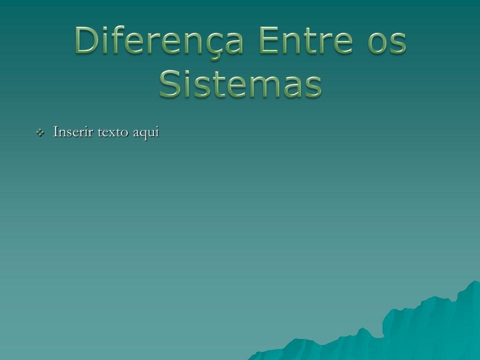 Diferença Entre os Sistemas Inserir texto aqui