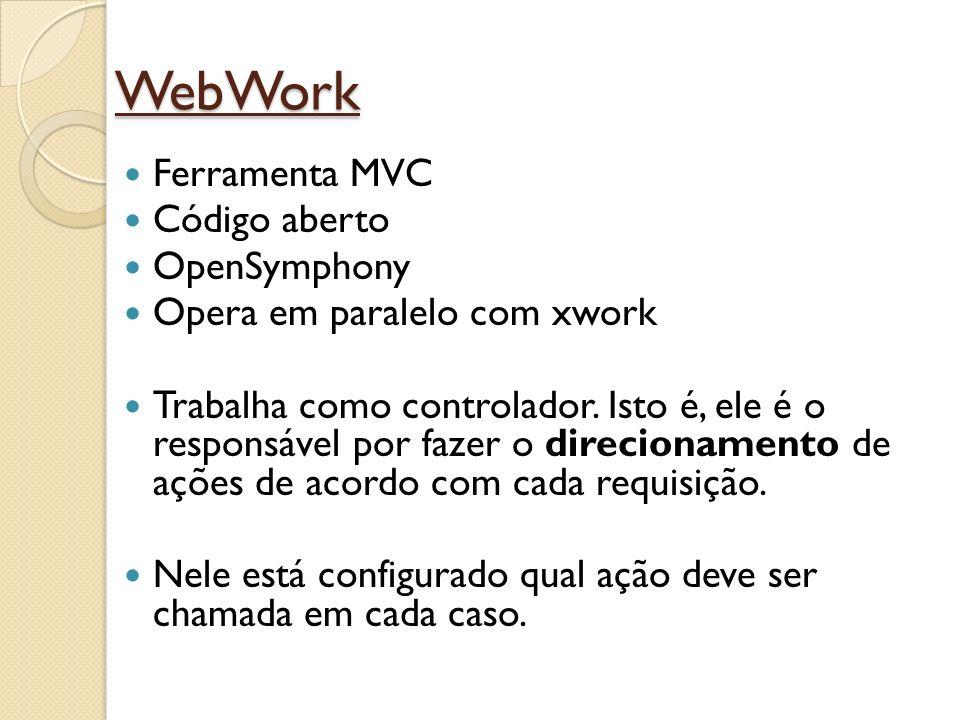 WebWork Ferramenta MVC Código aberto OpenSymphony