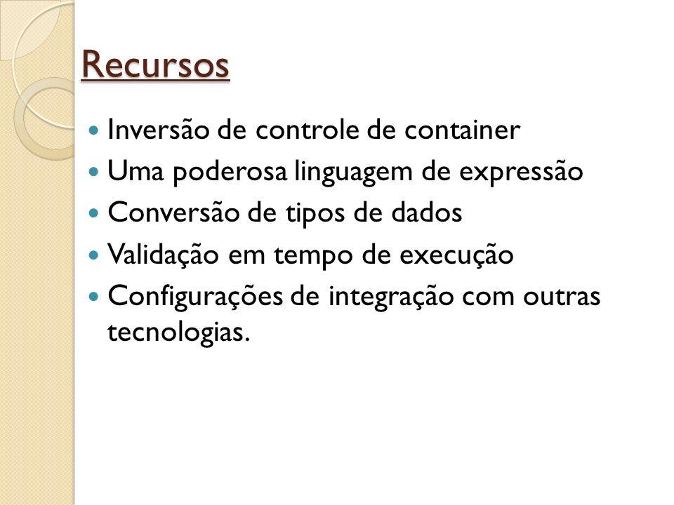 Recursos Inversão de controle de container