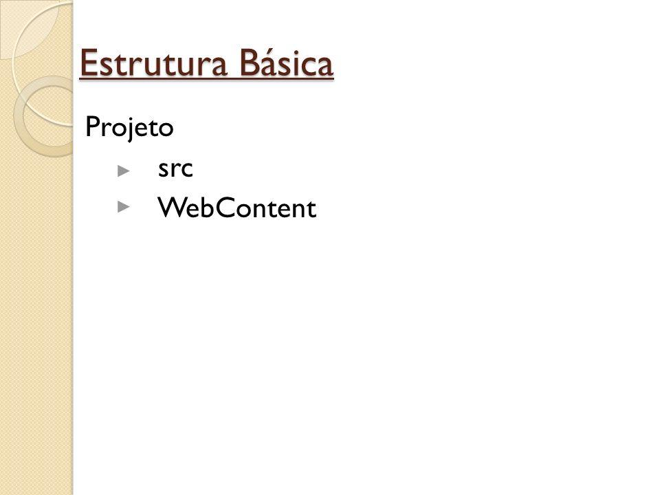 Estrutura Básica Projeto src WebContent