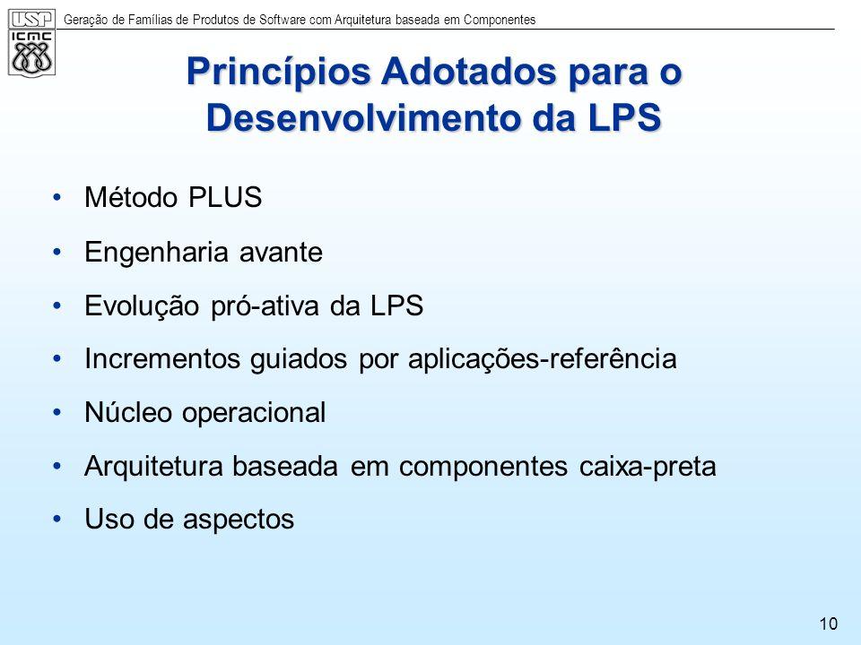 Princípios Adotados para o Desenvolvimento da LPS