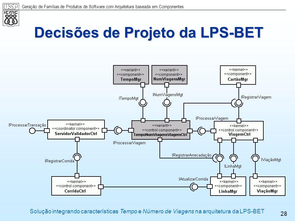 Decisões de Projeto da LPS-BET