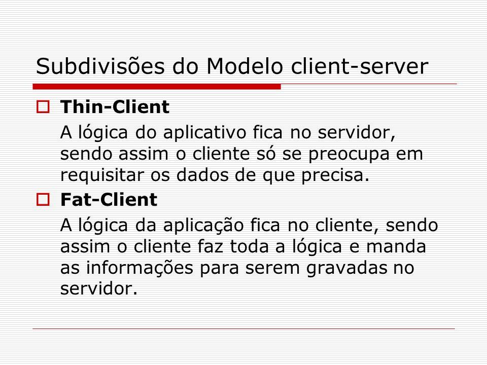 Subdivisões do Modelo client-server