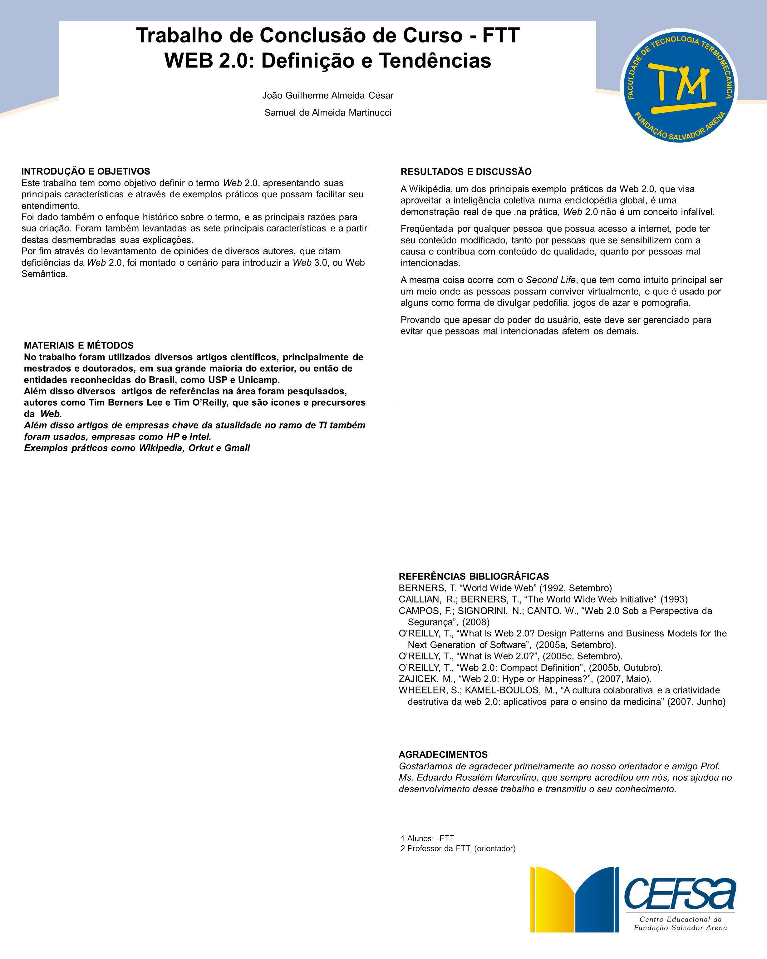Trabalho de Conclusão de Curso - FTT WEB 2.0: Definição e Tendências