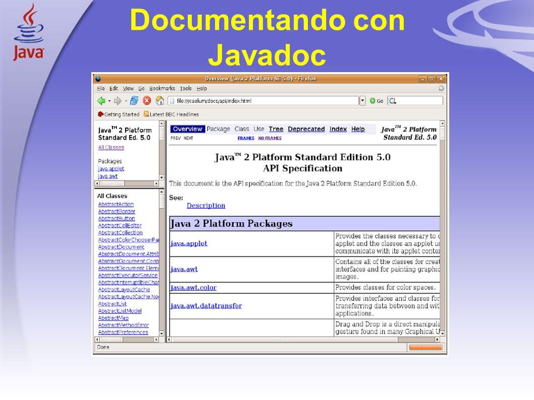 Documentando con Javadoc