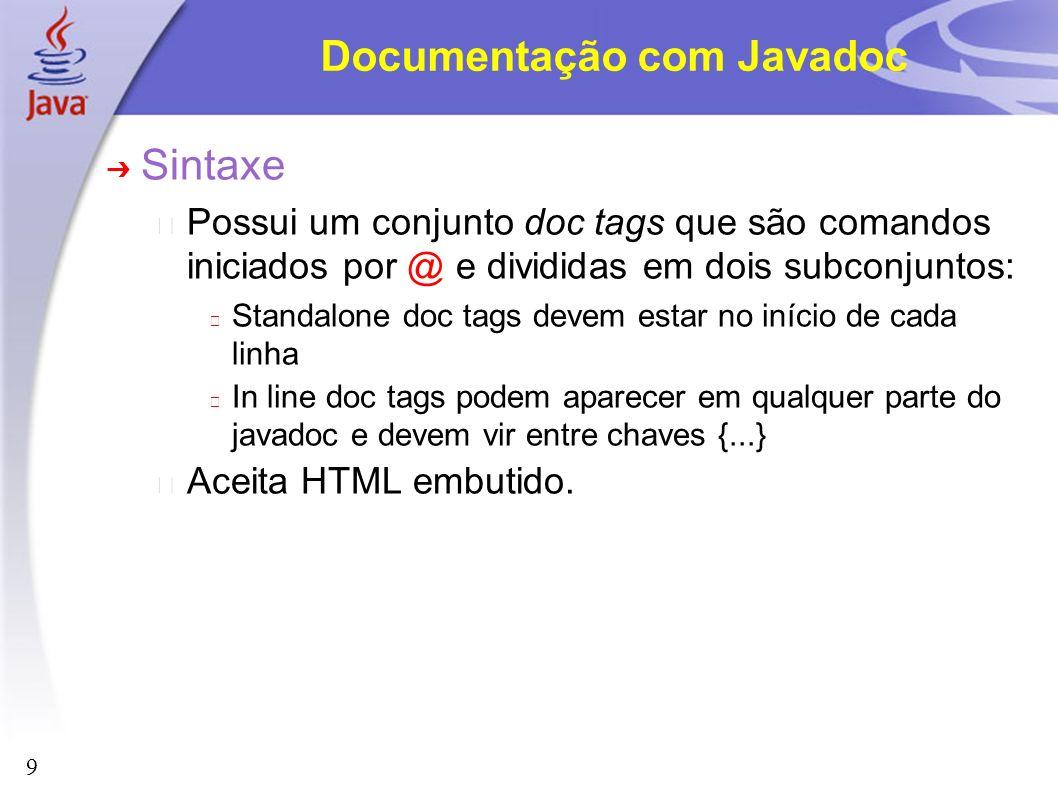 Documentação com Javadoc