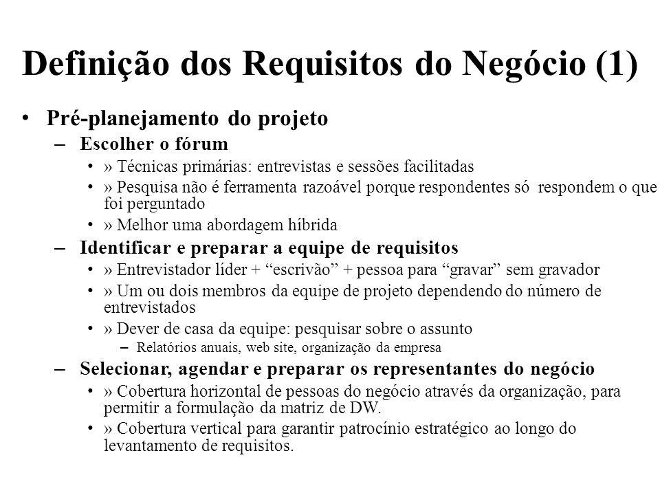 Definição dos Requisitos do Negócio (1)