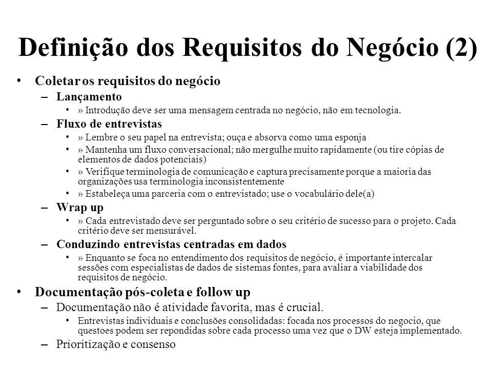 Definição dos Requisitos do Negócio (2)