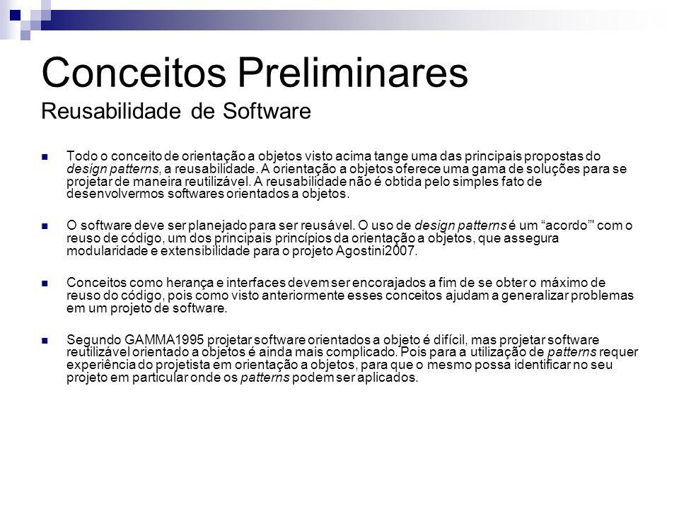 Conceitos Preliminares Reusabilidade de Software