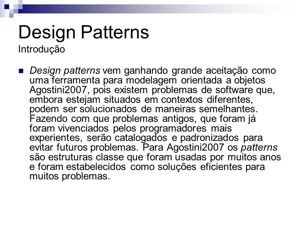 Design Patterns Introdução