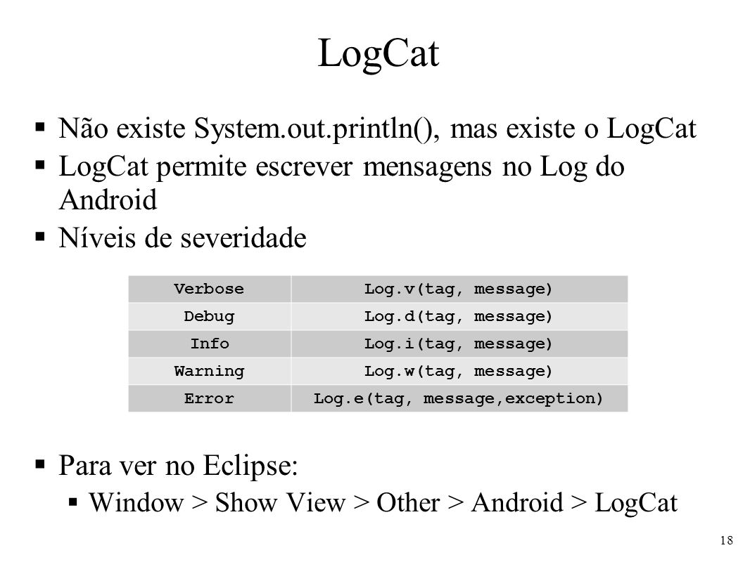 Log.e(tag, message,exception)