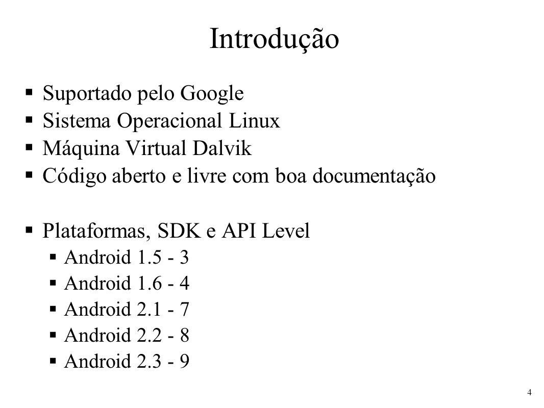 Introdução Suportado pelo Google Sistema Operacional Linux
