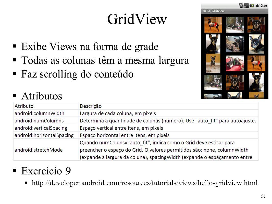GridView Exibe Views na forma de grade