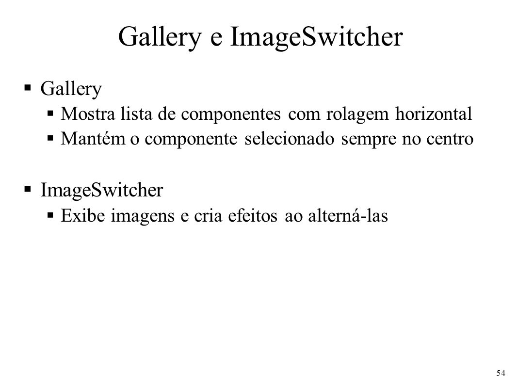 Gallery e ImageSwitcher