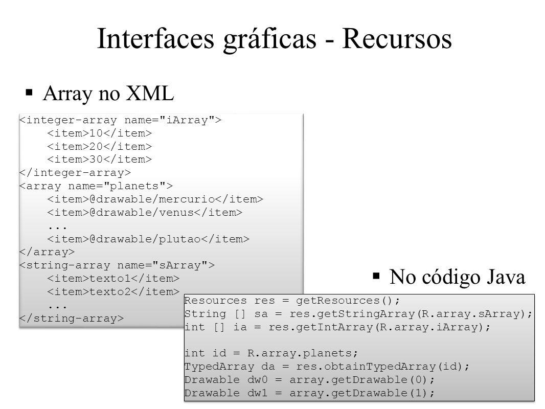 Interfaces gráficas - Recursos