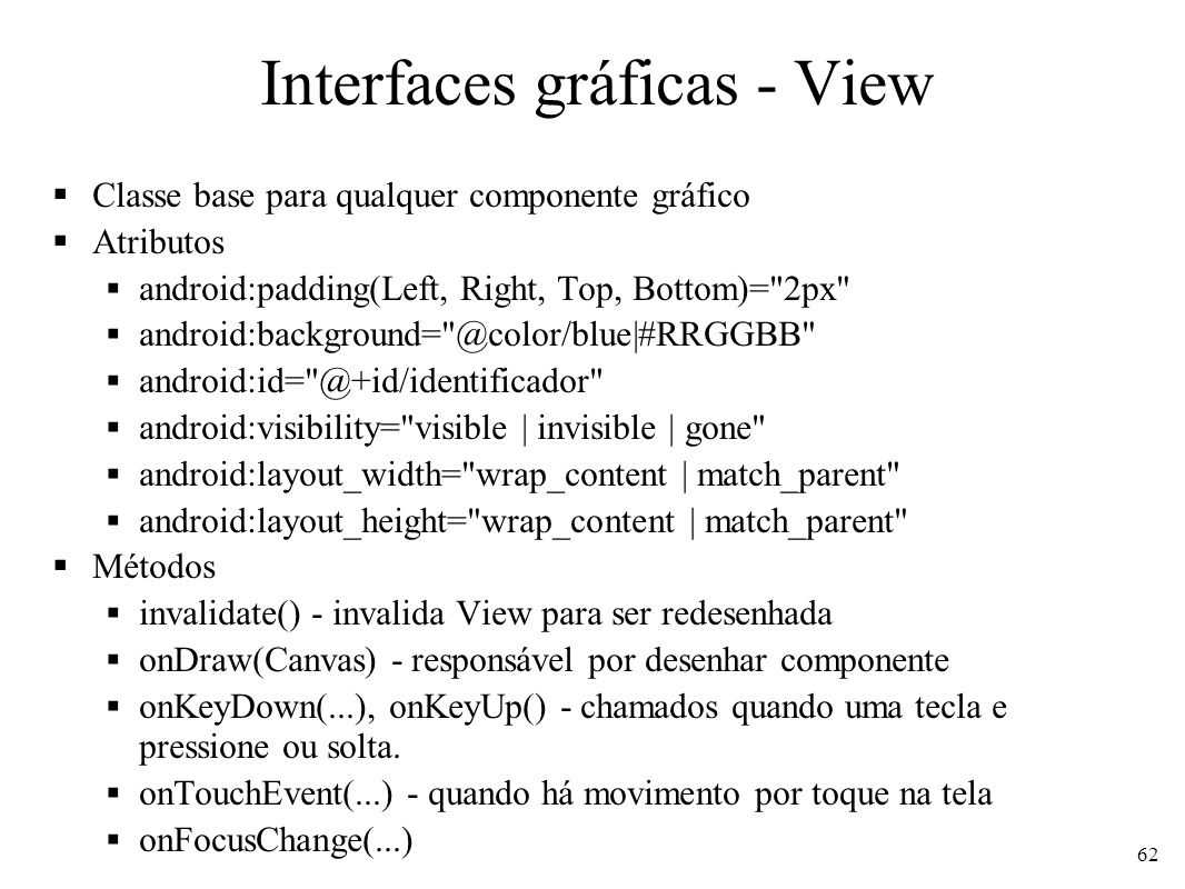 Interfaces gráficas - View