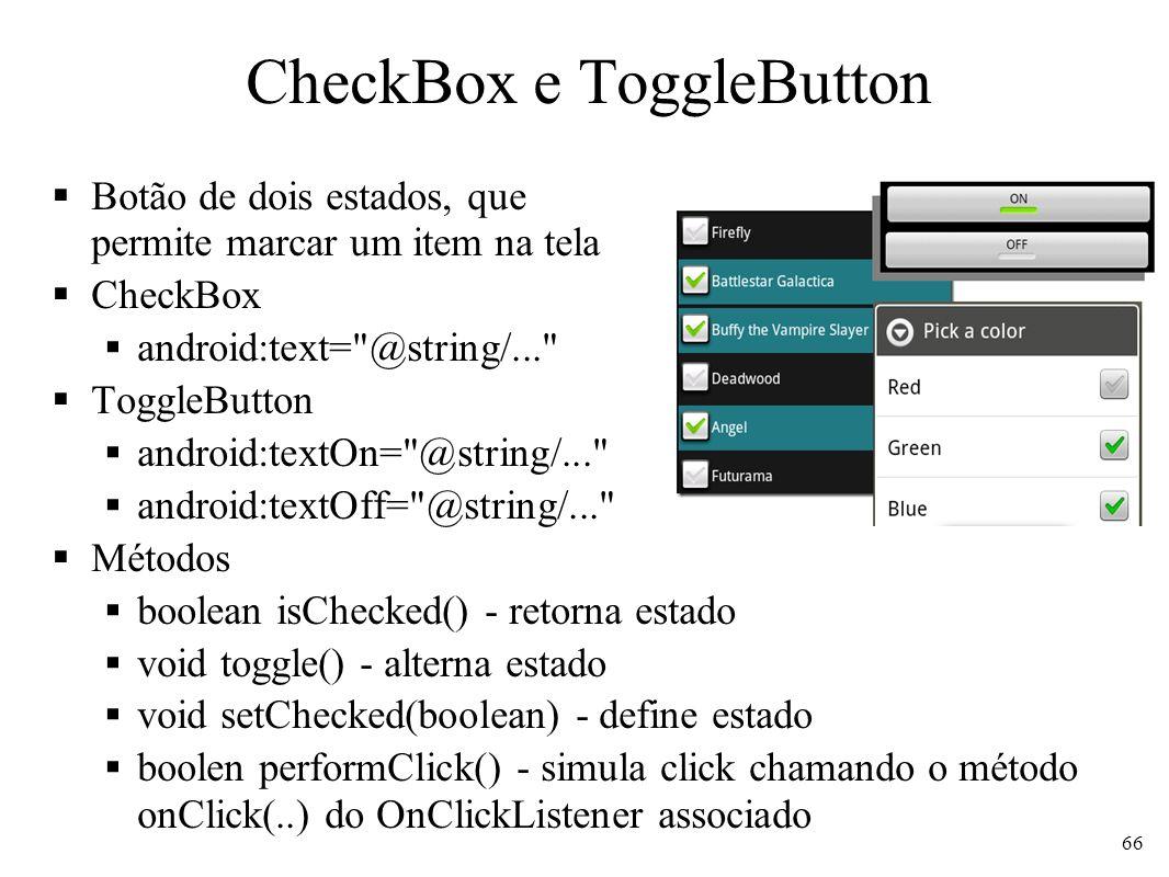 CheckBox e ToggleButton