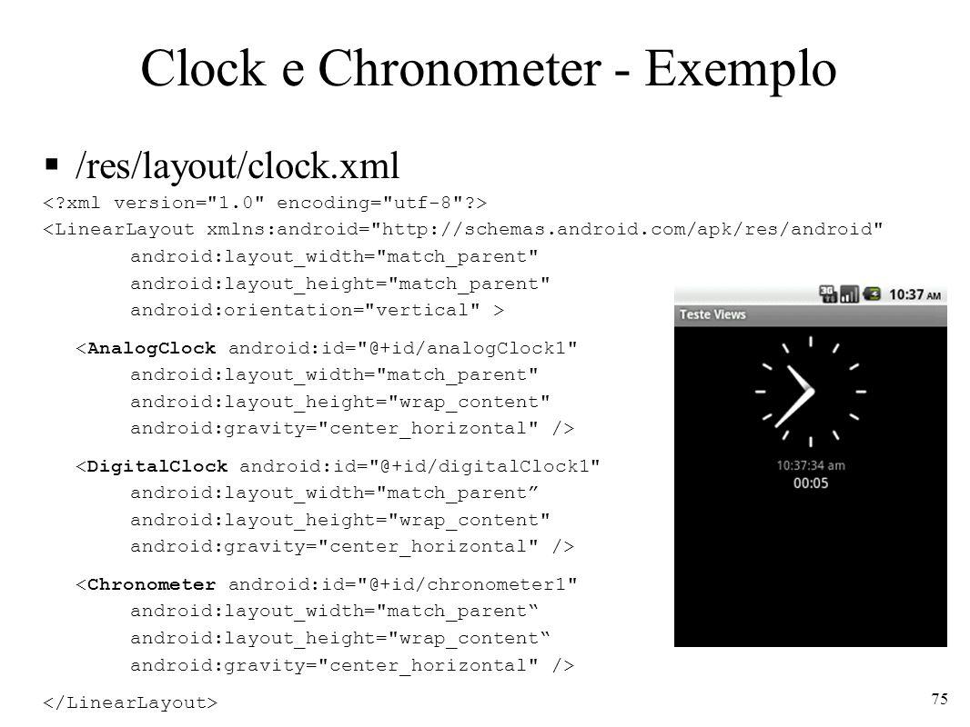 Clock e Chronometer - Exemplo
