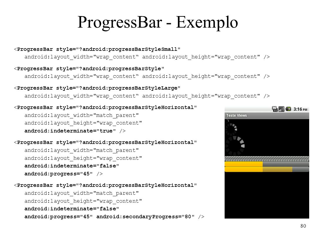 ProgressBar - Exemplo