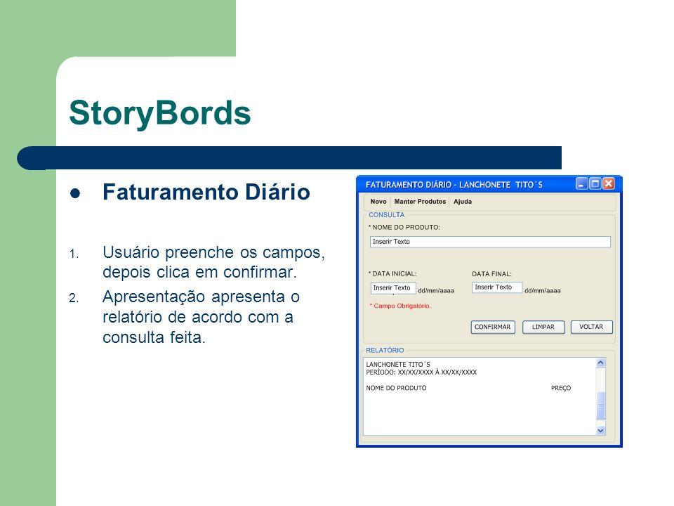 StoryBords Faturamento Diário