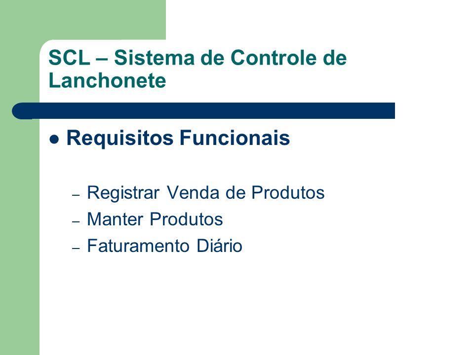 SCL – Sistema de Controle de Lanchonete