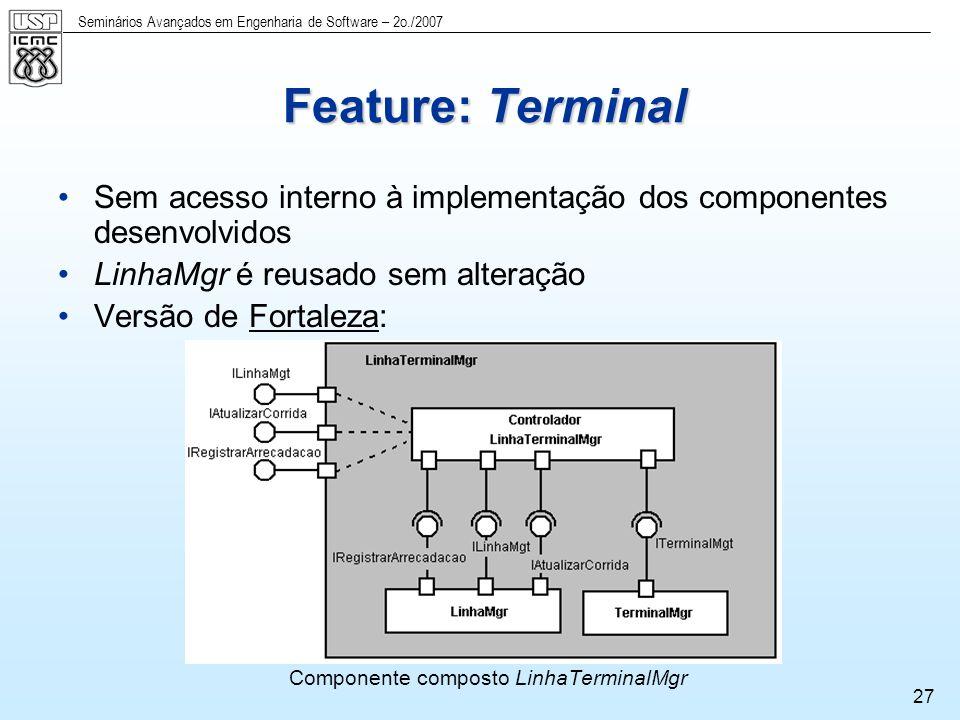 Componente composto LinhaTerminalMgr