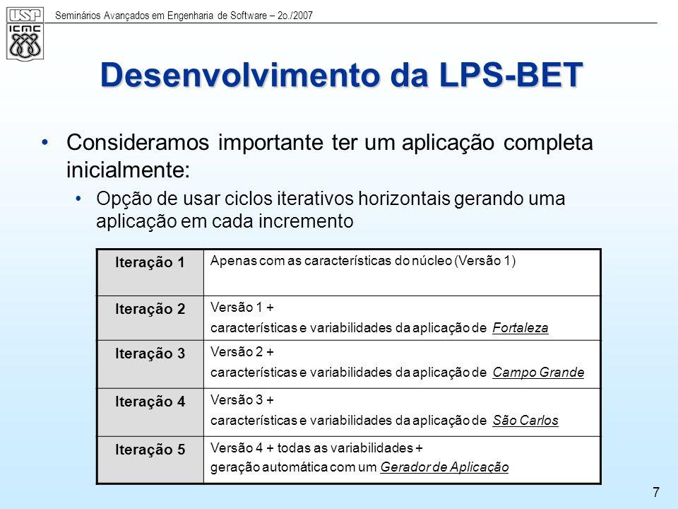 Desenvolvimento da LPS-BET