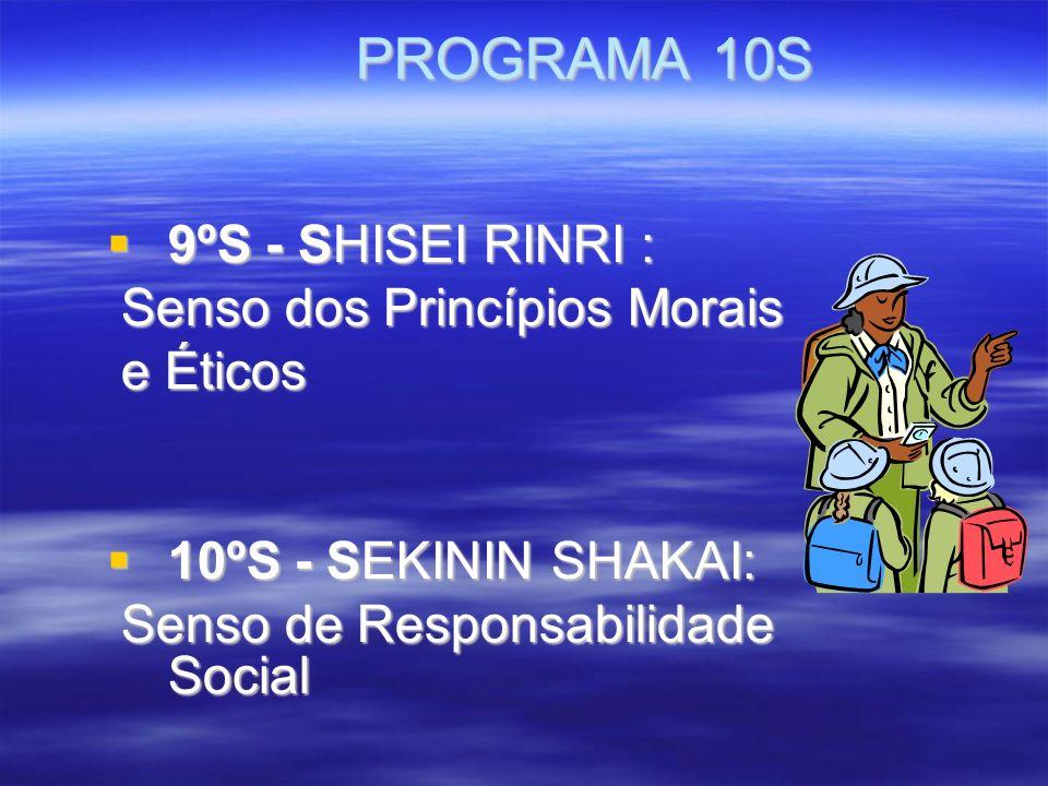 PROGRAMA 10S 9ºS - SHISEI RINRI : Senso dos Princípios Morais e Éticos