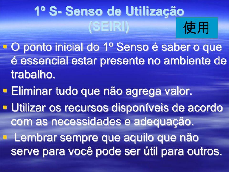 1º S- Senso de Utilização (SEIRI)