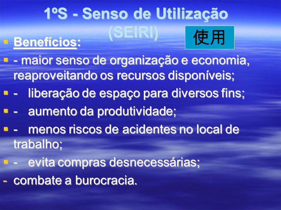 1ºS - Senso de Utilização (SEIRI)