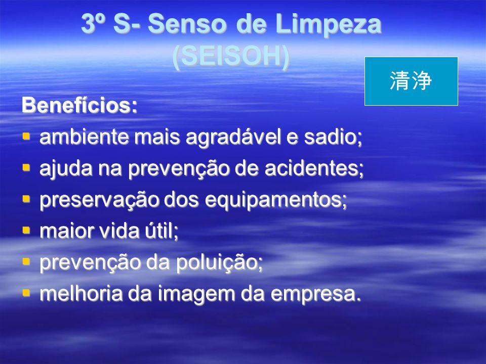 3º S- Senso de Limpeza (SEISOH)