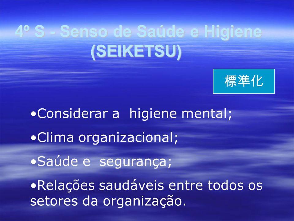 4º S - Senso de Saúde e Higiene (SEIKETSU)