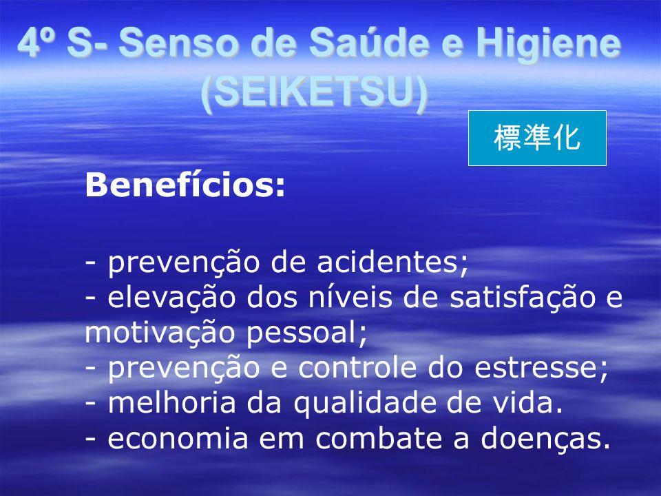 4º S- Senso de Saúde e Higiene (SEIKETSU)