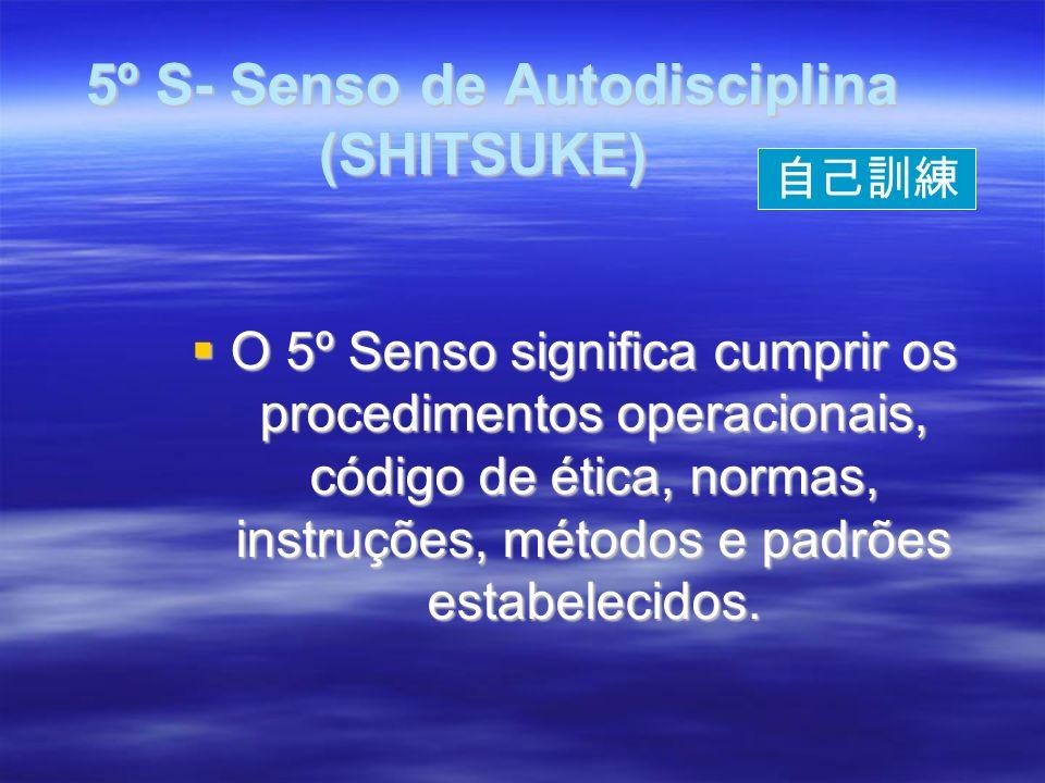 5º S- Senso de Autodisciplina (SHITSUKE)