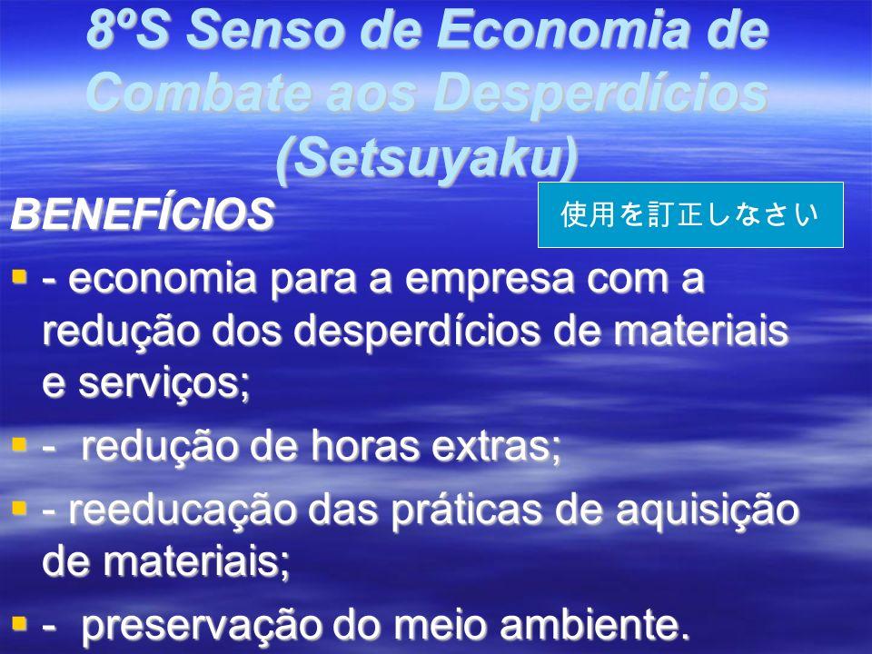 8ºS Senso de Economia de Combate aos Desperdícios (Setsuyaku)