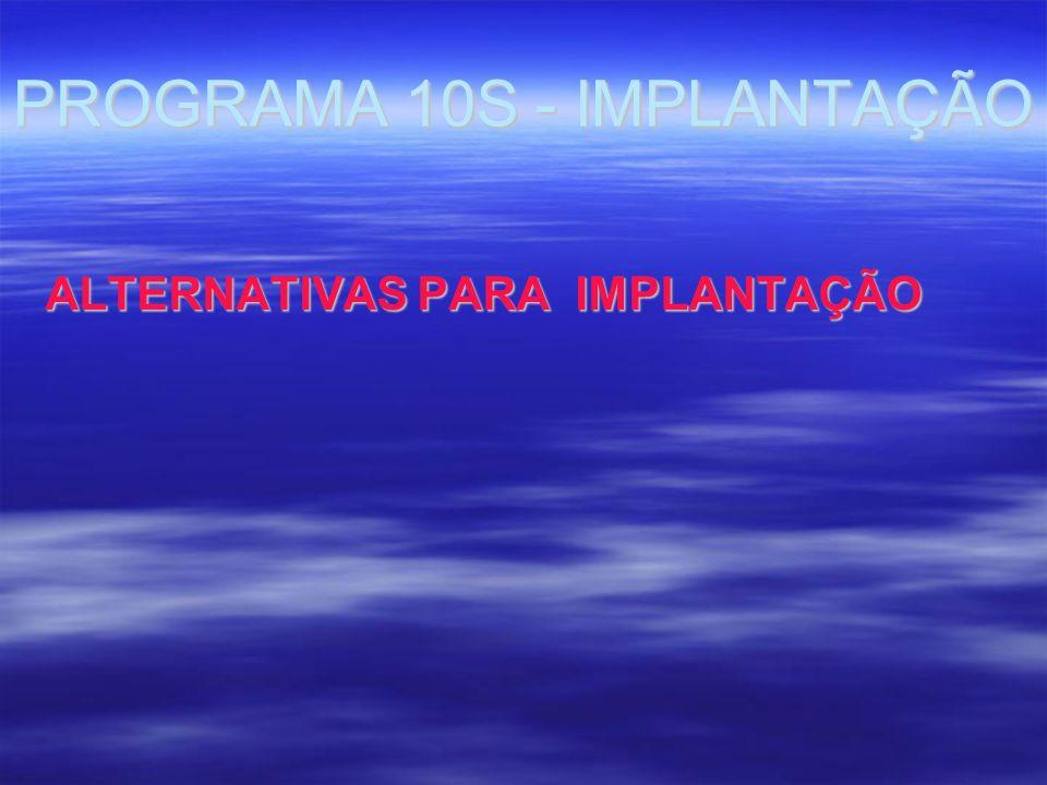 PROGRAMA 10S - IMPLANTAÇÃO