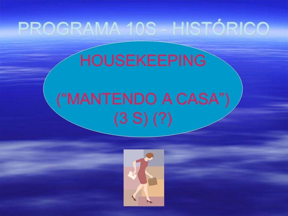 PROGRAMA 10S - HISTÓRICO HOUSEKEEPING ( MANTENDO A CASA ) (3 S) ( )