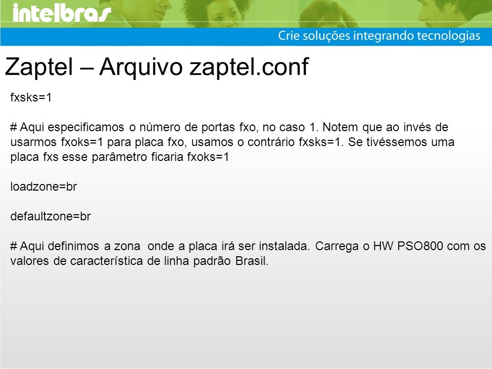 Zaptel – Arquivo zaptel.conf