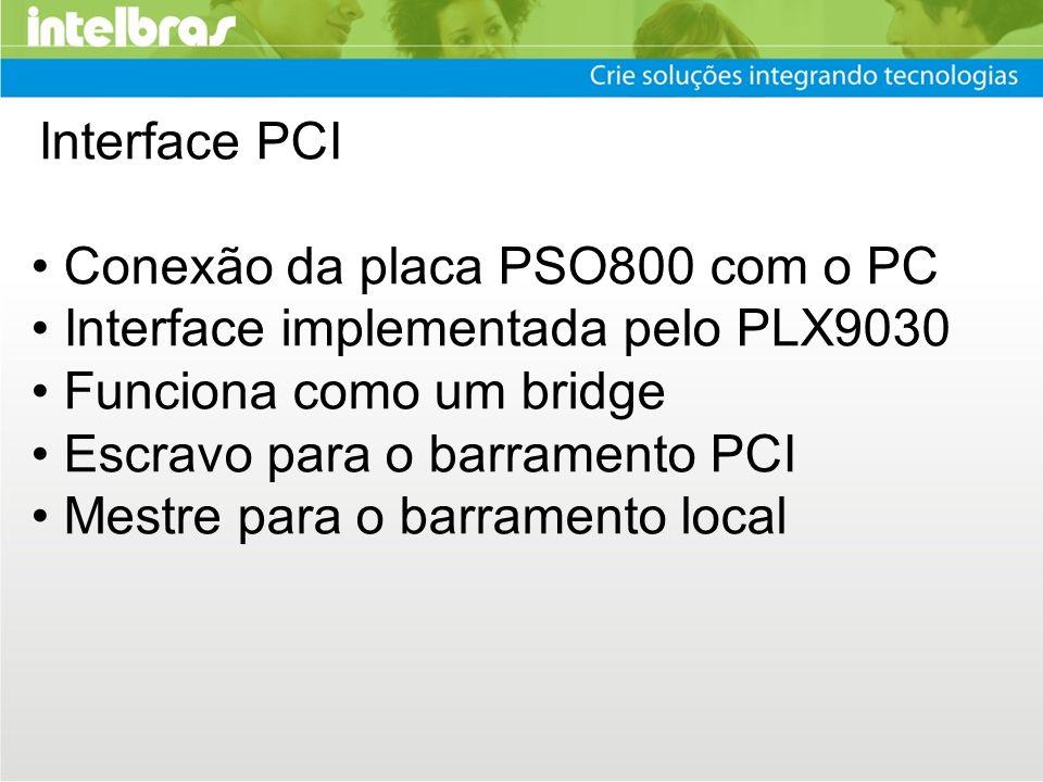 • Conexão da placa PSO800 com o PC