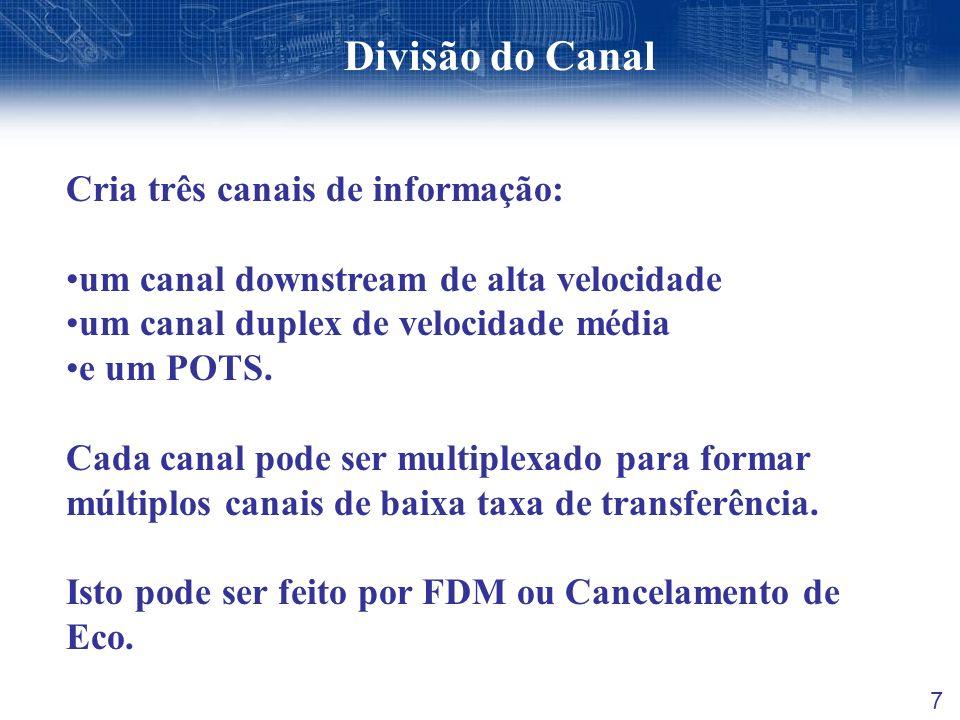 Divisão do Canal Cria três canais de informação: