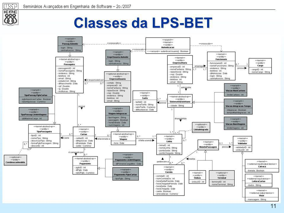 Classes da LPS-BET