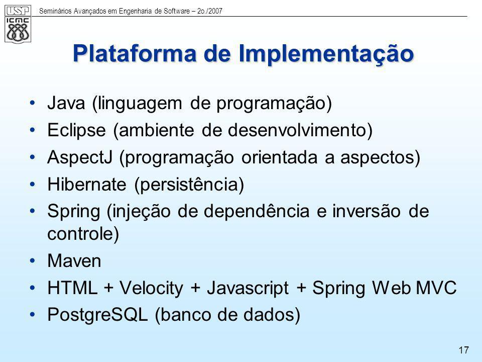 Plataforma de Implementação